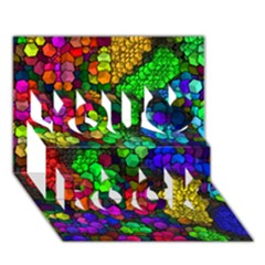 Artistic Cubes 4 You Rock 3d Greeting Card (7x5)