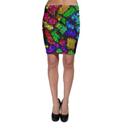 Artistic Cubes 4 Bodycon Skirts