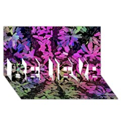 Artistic Cubes 5 Believe 3d Greeting Card (8x4)