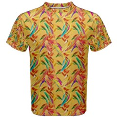 Abstract Hummingbird Pattern Men s Cotton Tees