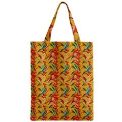 Abstract Hummingbird Pattern Zipper Classic Tote Bags