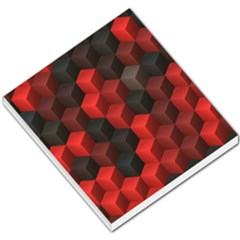 Artistic Cubes 7 Red Black Small Memo Pads
