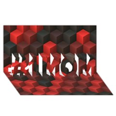 Artistic Cubes 7 Red Black #1 MOM 3D Greeting Cards (8x4)
