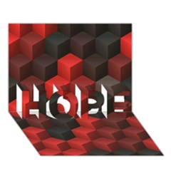 Artistic Cubes 7 Red Black HOPE 3D Greeting Card (7x5)