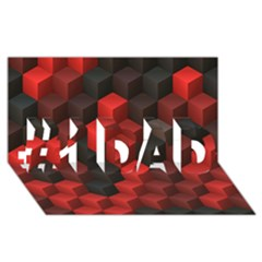 Artistic Cubes 7 Red Black #1 Dad 3d Greeting Card (8x4)