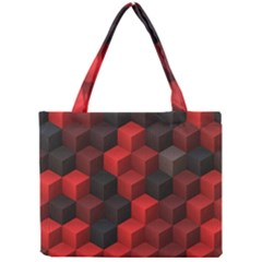 Artistic Cubes 7 Red Black Tiny Tote Bags