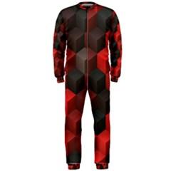 Artistic Cubes 7 Red Black Onepiece Jumpsuit (men)