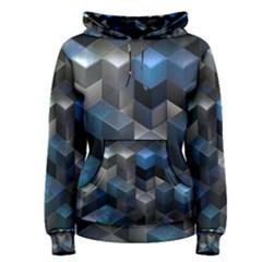 Artistic Cubes 9 Blue Women s Pullover Hoodies