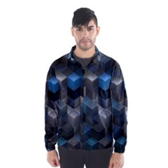 Artistic Cubes 9 Blue Wind Breaker (Men)