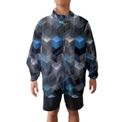 Artistic Cubes 9 Blue Wind Breaker (Kids)