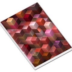 Artistic Cubes 9 Pink Red Large Memo Pads
