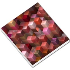 Artistic Cubes 9 Pink Red Small Memo Pads