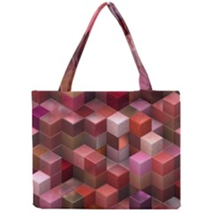 Artistic Cubes 9 Pink Red Tiny Tote Bags