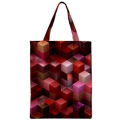 Artistic Cubes 9 Pink Red Classic Tote Bags