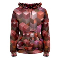 Artistic Cubes 9 Pink Red Women s Pullover Hoodies