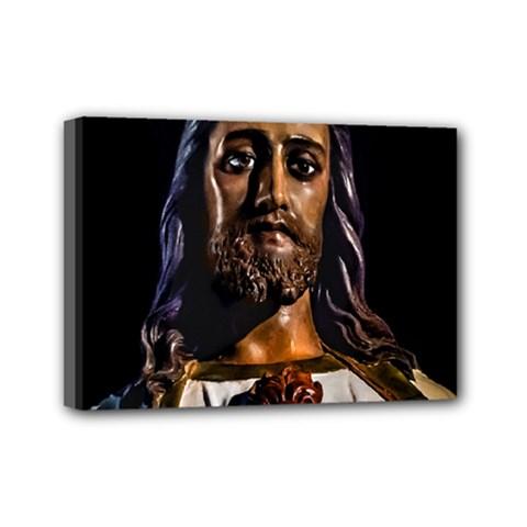 Jesus Christ Sculpture Photo Mini Canvas 7  x 5