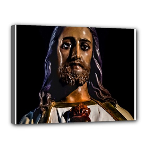 Jesus Christ Sculpture Photo Canvas 16  x 12