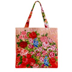 Pretty Sparkly Roses Grocery Tote Bags