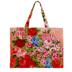 Pretty Sparkly Roses Zipper Tiny Tote Bags
