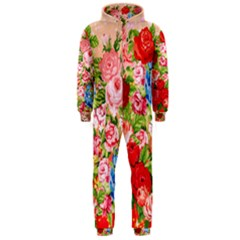 Pretty Sparkly Roses Hooded Jumpsuit (men)
