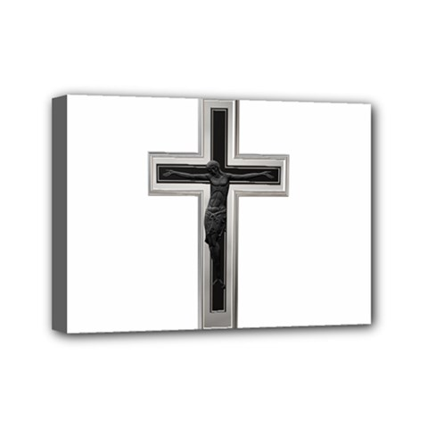 Christian cross Mini Canvas 7  x 5  (Stretched)