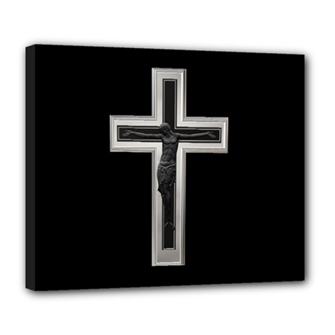Christian Cross Deluxe Canvas 24  X 20  (stretched)