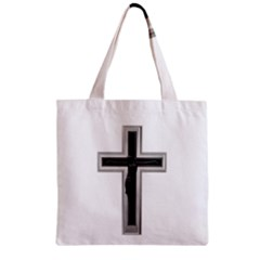 Christian Cross Zipper Grocery Tote Bag