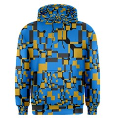 Blue Yellow Shapes Men s Pullover Hoodie