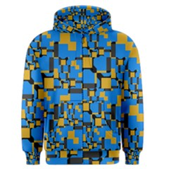 Blue Yellow Shapes Men s Zipper Hoodie