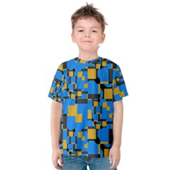 Blue Yellow Shapes Kid s Cotton Tee