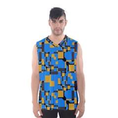Blue Yellow Shapes Men s Basketball Tank Top