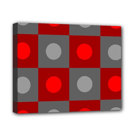 Circles In Squares Pattern Canvas 10  X 8  (stretched)