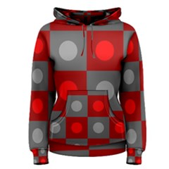 Circles In Squares Pattern Women s Pullover Hoodie