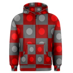 Circles In Squares Pattern Men s Zipper Hoodie