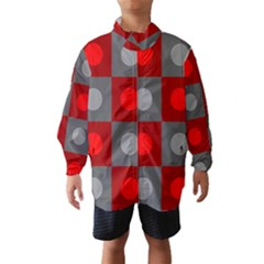 Circles in squares pattern Wind Breaker (Kids)