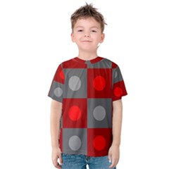 Circles in squares pattern Kid s Cotton Tee