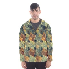 Stars circles and squares Mesh Lined Wind Breaker (Men)