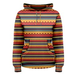 Waves and stripes pattern Women s Pullover Hoodie