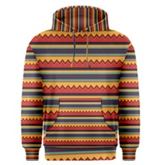 Waves And Stripes Pattern Men s Pullover Hoodie