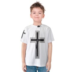 Red Christian cross Kid s Cotton Tee