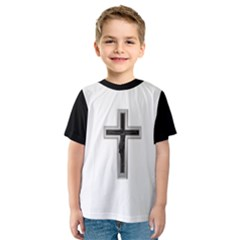 Red Christian cross Kid s Sport Mesh Tee
