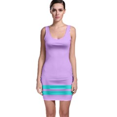 Purple and Blue Bodycon Dress