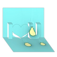Bright Ideas I Love You 3D Greeting Card (7x5)