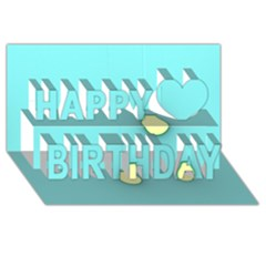Bright Ideas Happy Birthday 3d Greeting Card (8x4)