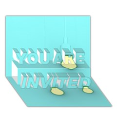 Bright Ideas YOU ARE INVITED 3D Greeting Card (7x5)