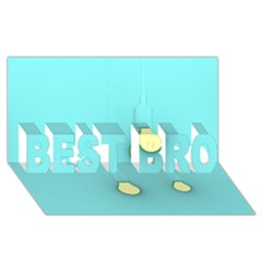 Bright Ideas Best Bro 3d Greeting Card (8x4)