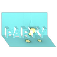 Bright Ideas Party 3d Greeting Card (8x4)