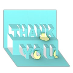 Bright Ideas THANK YOU 3D Greeting Card (7x5)