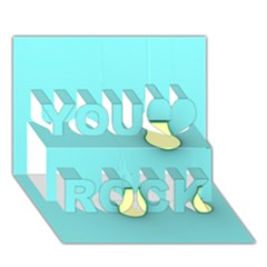 Bright Ideas You Rock 3d Greeting Card (7x5)
