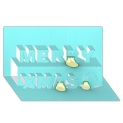 Bright Ideas Merry Xmas 3d Greeting Card (8x4)